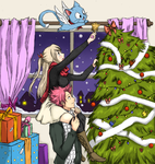 Nalu Christmas by thewhitefoxie