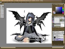 Gothic Lolita fairy thing WIP by sererena