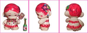 strawberry champagne  Munny by Blush-Art