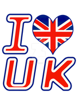 I Love United Kingdom by fiseven