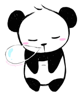 Sleeping Panda by ChibiLittlePanda