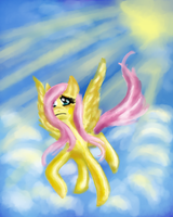 Fluttershy speed painting by XantheStar