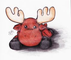 Stuffed moose by swayziea