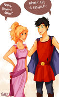 Percabeth-Halloween Costumes by TheGingerMenace123
