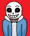 Crappy Sans MS Paint Drawing With a Red Background by PhilTrashNumberOne