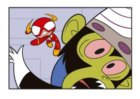 The Flash VS Mojo Jojo by IISuperSlothII