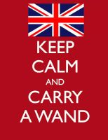 Keep Calm, and Carry a Wand by TheCheshireRat