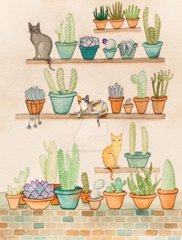 Cats and Cacti by kilkennycat