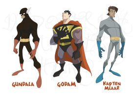 Indonesian heroes all star-WIP by darthdesign