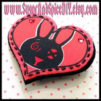 Wickedland Rabbit Brooch by SugarAndSpiceDIY