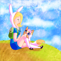 Fionna and cake by Kristten