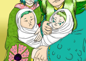 The Aragoto twin babies by Master-Kankuro