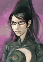 Bayonetta sketch by KR0NPR1NZ