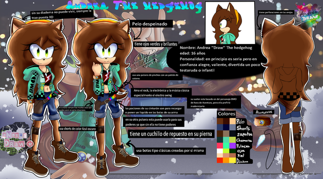 Andrea The hedgehog New reference by andreaplayed12