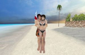 Kilik and Xianghua at the Beach  by Stylistic86