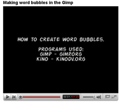 Making word bubbles video by kittytreats