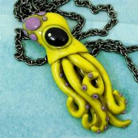 Teeny Squid Necklace - yell by beatblack