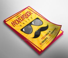 Movember Party Flyer by snkdesigns