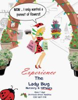 Christmas version Lady Bug by Sopecartoons