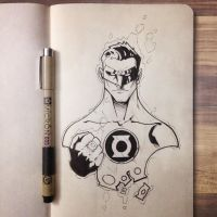 Green Lantern Sketch by CalebHunt
