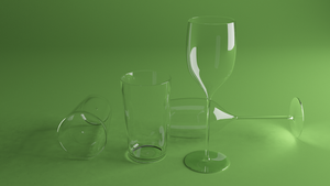 Glass and win glass by HAZARDOS