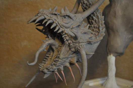 Dragon diorama WIP 4 by AntWatkins