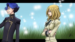 milly and Rivalz  code geass by shishonaruto92i