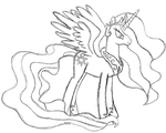 Princess Celestia - Sketch by MyLittlePonyFTW