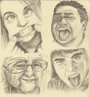 Life Studies Faces 3 by Air-City