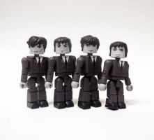 The Beatles Custom Minimates by luke314pi