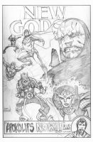 The Fourth World- pencils by Mooneyham