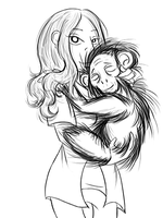 Girl and Chimp by Morphississ