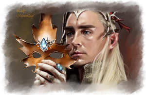 Thranduil Leaf mask by LadyMintLeaf