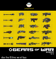 Gears of war Weapons by txstduio