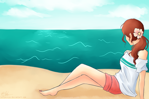 At the Beach by LeftyNinja