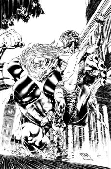 Earth 2 Worlds end 6 cover by PauloSiqueira