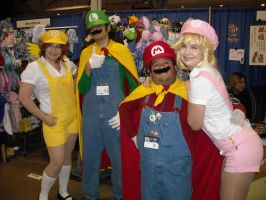Super Mario Bros with Peach and Daisy Cosplay by Lionofdemise