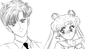 Mamoru + Usagi by Valynia