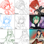 Switcharound with KHR cast - Aisha.Illydna.Kira by Hanai-Kira