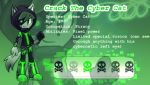 Crack The Cyber Cat (Reference Sheet) by iCybeRaveri