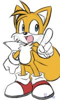 Miles Tails Prower Doodle by rongs1234