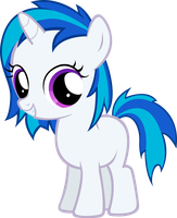 Vinyl Scratch Filly by MoongazePonies