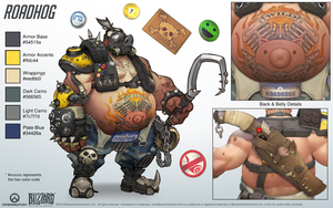 Roadhog - Overwatch - Close look at model by PlanK-69