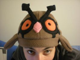 Pokemon Hoothoot Fleece Hat by Dionashi