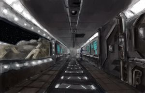 Spaceship Interior by ScoffsArt