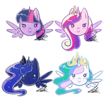 Chibi Princesses by Alidythera