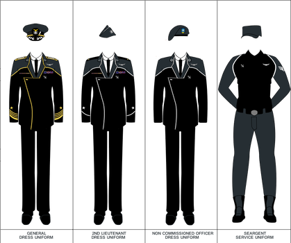 WWIII Space Force Uniforms by YNot1989