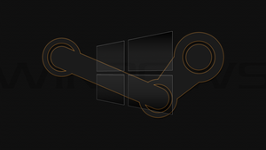 Windows 10 Steam Edition Orange Desktop Wallpaper by DarkKnight2264