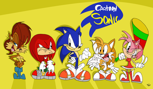 Cartoon Sonic the cast by Jowybean