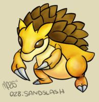 028: Sandslash by Mabelma